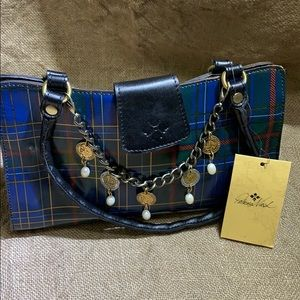 Patricia Nash leather plaid bag new with tags.